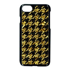 Houndstooth1 Black Marble & Gold Foil Apple Iphone 7 Seamless Case (black)