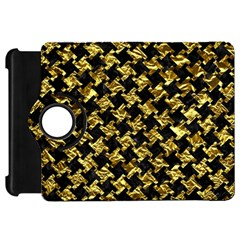 Houndstooth2 Black Marble & Gold Foil Kindle Fire Hd 7  by trendistuff