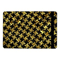 Houndstooth2 Black Marble & Gold Foil Samsung Galaxy Tab Pro 10 1  Flip Case by trendistuff
