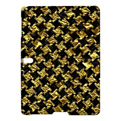 Houndstooth2 Black Marble & Gold Foil Samsung Galaxy Tab S (10 5 ) Hardshell Case  by trendistuff