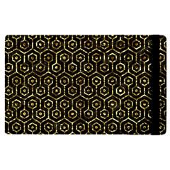 Hexagon1 Black Marble & Gold Foil Apple Ipad Pro 9 7   Flip Case by trendistuff