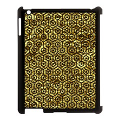 Hexagon1 Black Marble & Gold Foil (r) Apple Ipad 3/4 Case (black) by trendistuff
