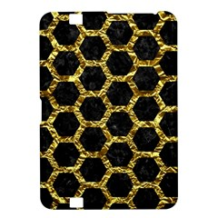 Hexagon2 Black Marble & Gold Foil Kindle Fire Hd 8 9  by trendistuff