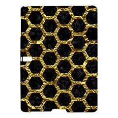 Hexagon2 Black Marble & Gold Foil Samsung Galaxy Tab S (10 5 ) Hardshell Case  by trendistuff