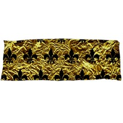 Royal1 Black Marble & Gold Foil Body Pillow Case Dakimakura (two Sides) by trendistuff
