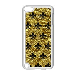 Royal1 Black Marble & Gold Foil Apple Ipod Touch 5 Case (white) by trendistuff