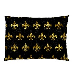 Royal1 Black Marble & Gold Foil (r) Pillow Case (two Sides) by trendistuff