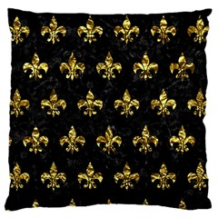 Royal1 Black Marble & Gold Foil (r) Large Cushion Case (two Sides) by trendistuff