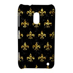 Royal1 Black Marble & Gold Foil (r) Nokia Lumia 620 by trendistuff