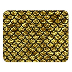 Scales1 Black Marble & Gold Foil (r) Double Sided Flano Blanket (large)  by trendistuff