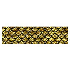 Scales1 Black Marble & Gold Foil (r) Satin Scarf (oblong) by trendistuff