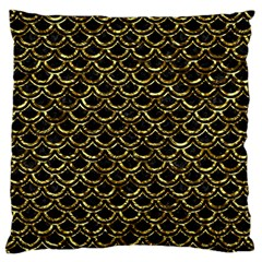 Scales2 Black Marble & Gold Foil Standard Flano Cushion Case (one Side) by trendistuff