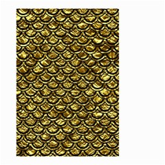 Scales2 Black Marble & Gold Foil (r) Small Garden Flag (two Sides) by trendistuff