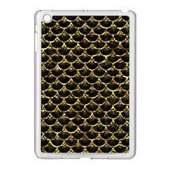Scales3 Black Marble & Gold Foil Apple Ipad Mini Case (white) by trendistuff