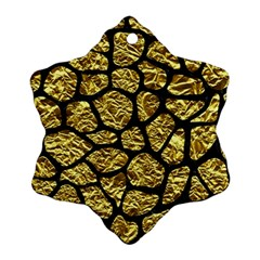 Skin1 Black Marble & Gold Foil Ornament (snowflake) by trendistuff