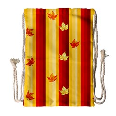 Autumn Background Drawstring Bag (large) by AllOverIt