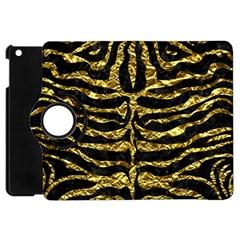 Skin2 Black Marble & Gold Foil Apple Ipad Mini Flip 360 Case by trendistuff