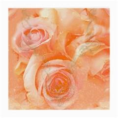 Flower Power, Wonderful Roses, Vintage Design Medium Glasses Cloth (2 Side) by FantasyWorld7