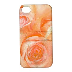 Flower Power, Wonderful Roses, Vintage Design Apple Iphone 4/4s Hardshell Case With Stand by FantasyWorld7