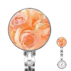 Flower Power, Wonderful Roses, Vintage Design Stainless Steel Nurses Watch by FantasyWorld7