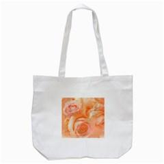 Flower Power, Wonderful Roses, Vintage Design Tote Bag (white) by FantasyWorld7