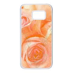 Flower Power, Wonderful Roses, Vintage Design Samsung Galaxy S7 White Seamless Case by FantasyWorld7
