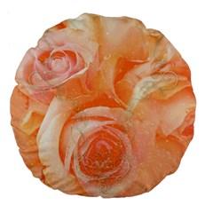 Flower Power, Wonderful Roses, Vintage Design Large 18  Premium Flano Round Cushions by FantasyWorld7