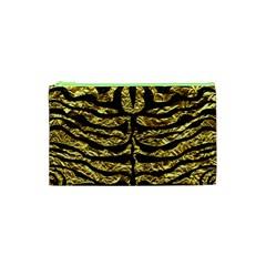 Skin2 Black Marble & Gold Foil (r) Cosmetic Bag (xs) by trendistuff