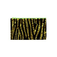 Skin4 Black Marble & Gold Foil (r) Cosmetic Bag (xs) by trendistuff