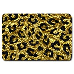Skin5 Black Marble & Gold Foil Large Doormat  by trendistuff