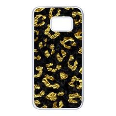 Skin5 Black Marble & Gold Foil (r)skin5 Black Marble & Gold Foil (r) Samsung Galaxy S7 White Seamless Case by trendistuff