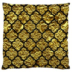 Tile1 Black Marble & Gold Foil (r) Large Cushion Case (two Sides) by trendistuff