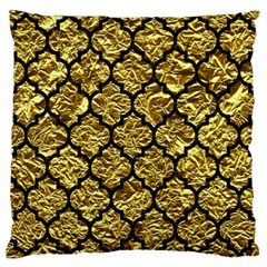 Tile1 Black Marble & Gold Foil (r) Standard Flano Cushion Case (two Sides) by trendistuff