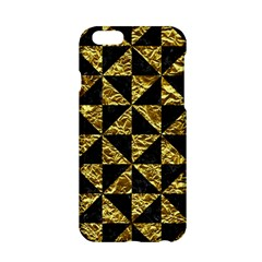 Triangle1 Black Marble & Gold Foil Apple Iphone 6/6s Hardshell Case by trendistuff