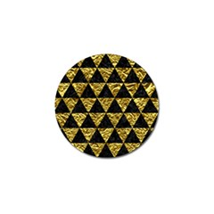 Triangle3 Black Marble & Gold Foil Golf Ball Marker by trendistuff