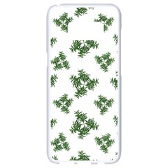 Nature Motif Pattern Design Samsung Galaxy S8 White Seamless Case by dflcprints