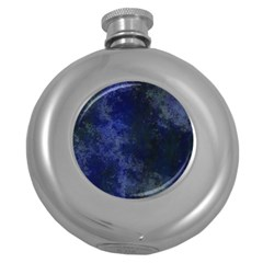 Marbled Structure 4b Round Hip Flask (5 Oz) by MoreColorsinLife