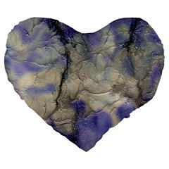 Marbled Structure 5b2 Large 19  Premium Flano Heart Shape Cushions by MoreColorsinLife
