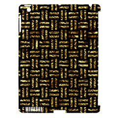 Woven1 Black Marble & Gold Foil Apple Ipad 3/4 Hardshell Case (compatible With Smart Cover) by trendistuff