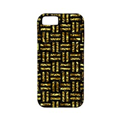 Woven1 Black Marble & Gold Foil Apple Iphone 5 Classic Hardshell Case (pc+silicone) by trendistuff