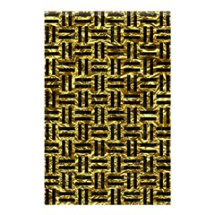 Woven1 Black Marble & Gold Foil (r) Shower Curtain 48  X 72  (small)  by trendistuff