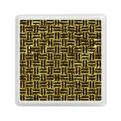 Woven1 Black Marble & Gold Foil (r) Memory Card Reader (square)  by trendistuff