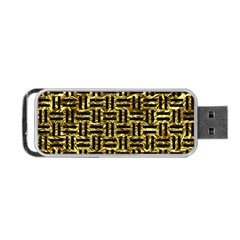 Woven1 Black Marble & Gold Foil (r) Portable Usb Flash (two Sides) by trendistuff
