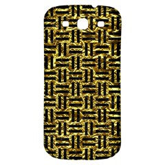 Woven1 Black Marble & Gold Foil (r) Samsung Galaxy S3 S Iii Classic Hardshell Back Case by trendistuff