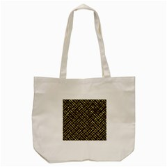 Woven2 Black Marble & Gold Foil Tote Bag (cream) by trendistuff