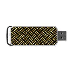 Woven2 Black Marble & Gold Foil Portable Usb Flash (two Sides) by trendistuff