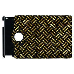 Woven2 Black Marble & Gold Foil Apple Ipad 3/4 Flip 360 Case by trendistuff