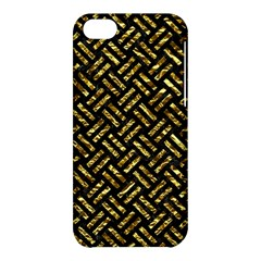 Woven2 Black Marble & Gold Foil Apple Iphone 5c Hardshell Case by trendistuff