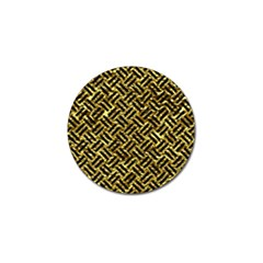 Woven2 Black Marble & Gold Foil (r) Golf Ball Marker (4 Pack) by trendistuff