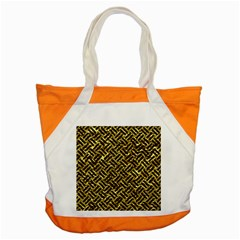 Woven2 Black Marble & Gold Foil (r) Accent Tote Bag by trendistuff